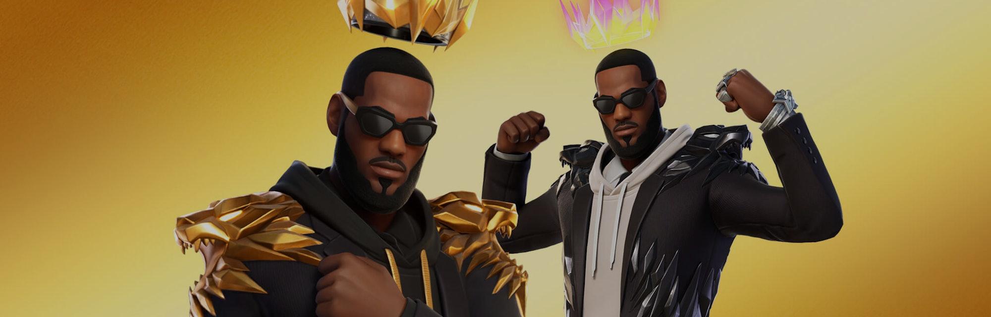 LeBron James Fortnite skins promo art from Epic Games