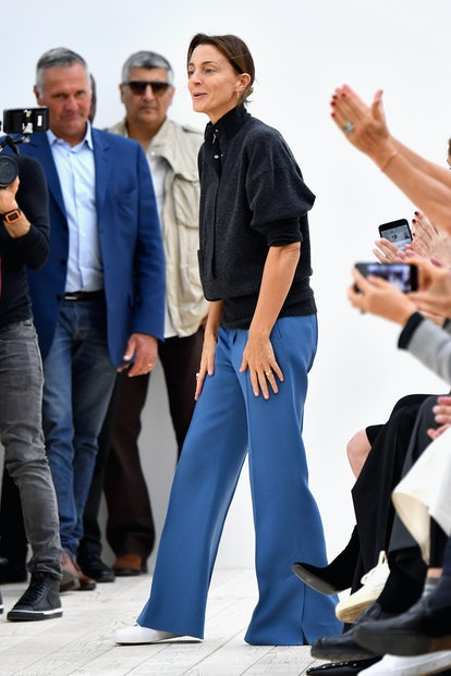 Designer Phoebe Philo is seen on the runway during the Celine show as part of the Paris Fashion Wee...