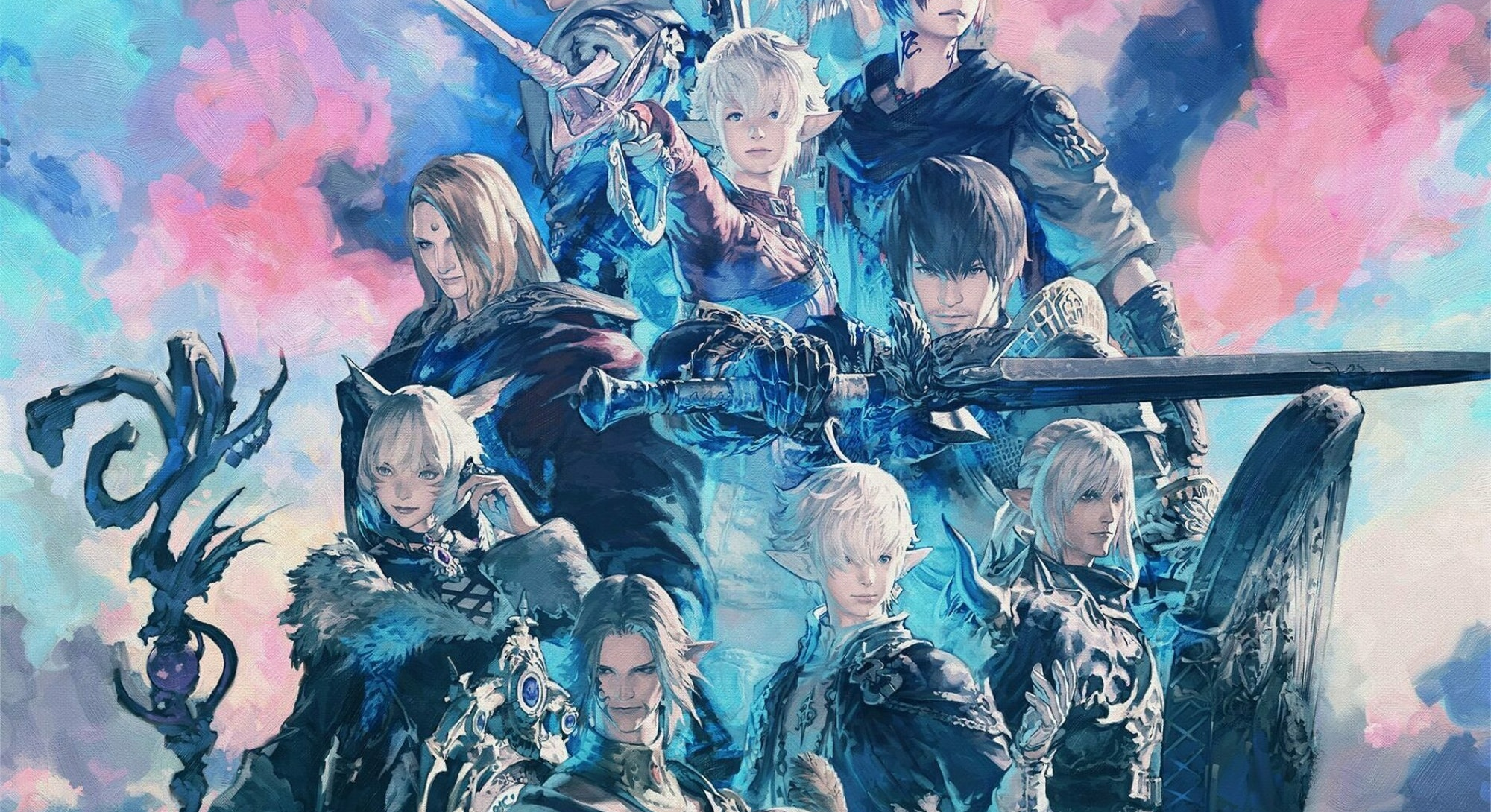 Final Fantasy 14 Endwalker character poster