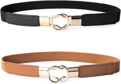 JASGOOD Stretchy Waist Belts (Set of 2)