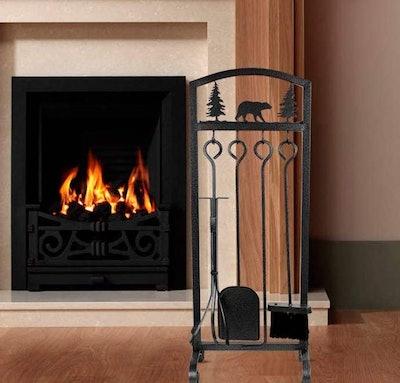 MyFireplaceDirect Wrought Iron Fireplace Tool Set (5 Pieces)