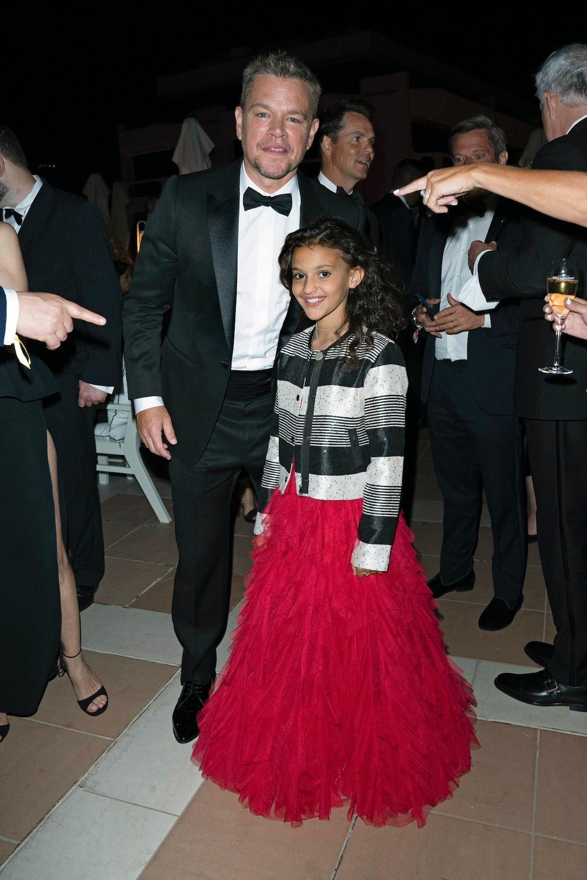Matt Damon and Lilou Siauvaud