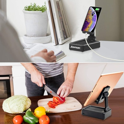 jteman Tablet Stand with Bluetooth Speaker