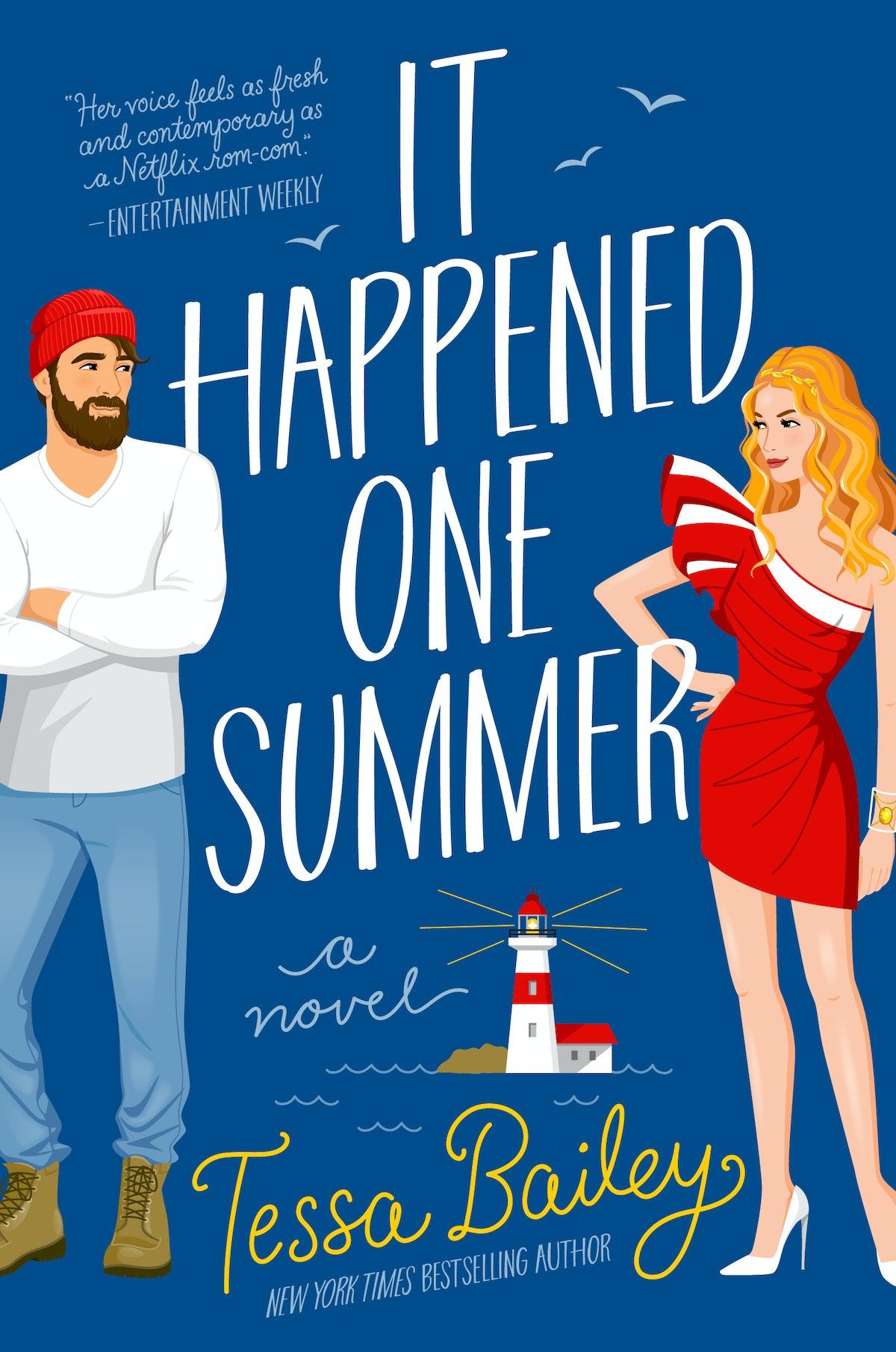 The cover to Tessa Bailey's romcom novel 'It Happened One Summer'