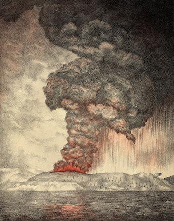 Krakatoa 1883 eruption