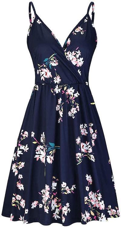Styleword V-Neck Swing Dress