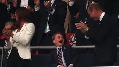 Prince George at Euro final