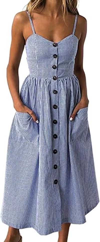 Angashion Swing Midi Dress