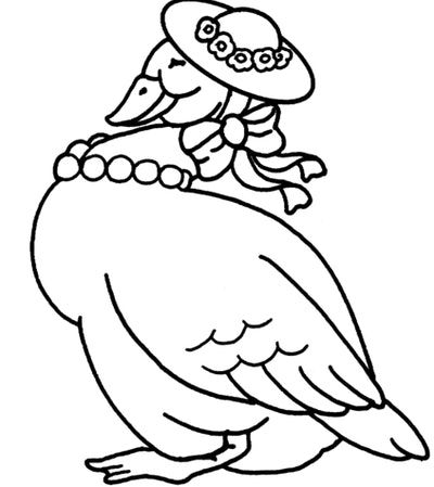 Duck in Bonnet