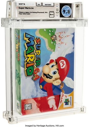 Super Mario 64 sealed auction item from Heritage Auctions