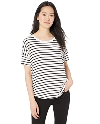 Daily Ritual Jersey Short-Sleeve Scoop-Neck Shirt