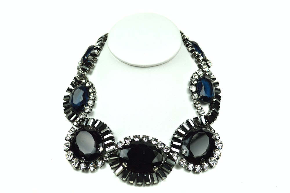 Hematite Swirl Necklace (CHSW-13)