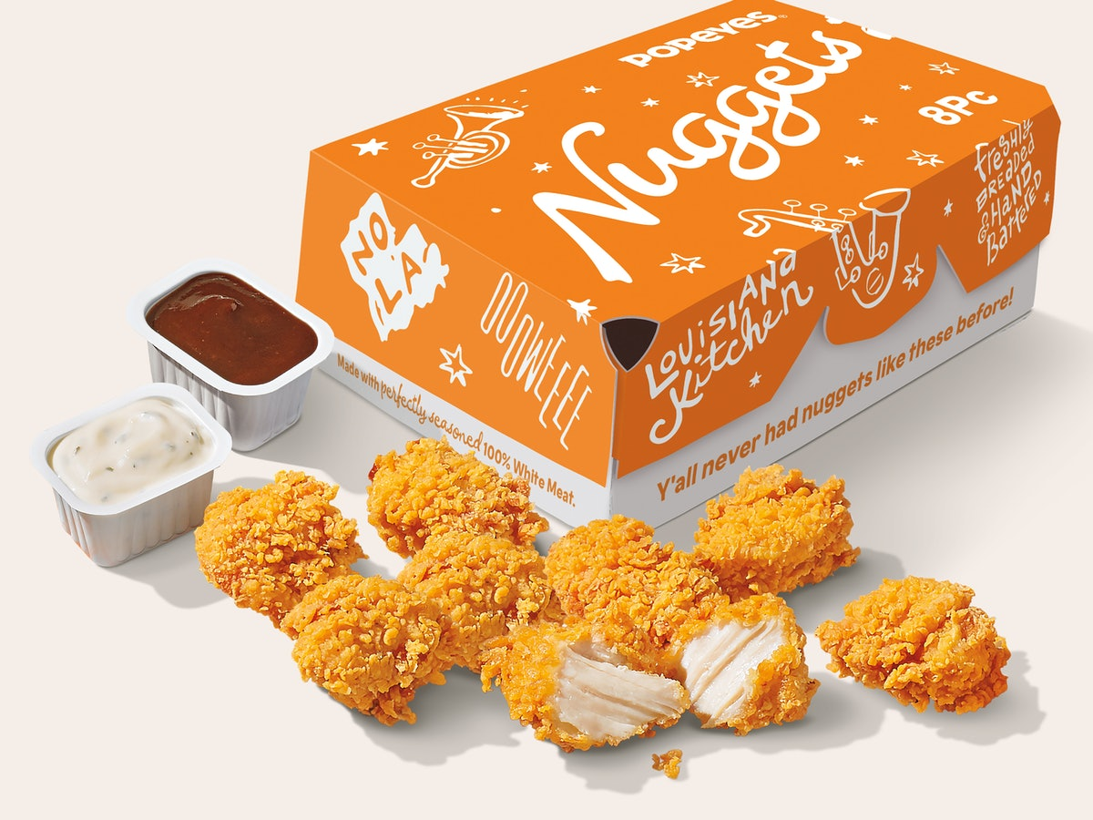 Popeyes' new Chicken Nuggets are reminiscent of the iconic sandwich.