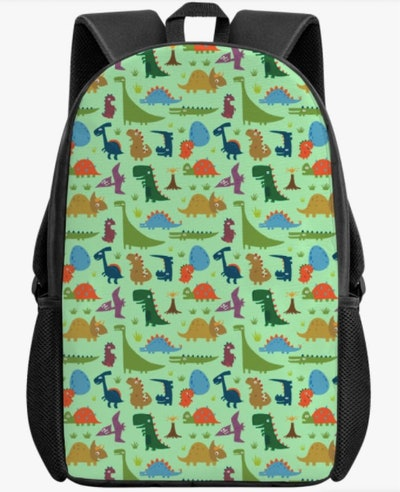 Multicolor Dino Backpack