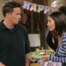 """Monica and Chandler on the television show """"Friends."""""""