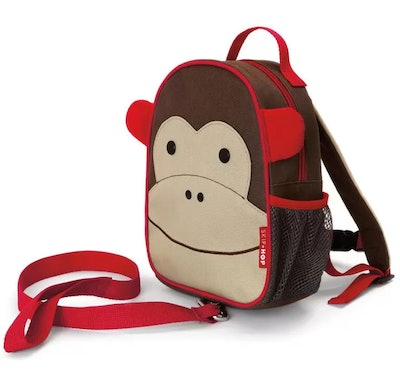 Mini Backpack With Safety Harness - Monkey