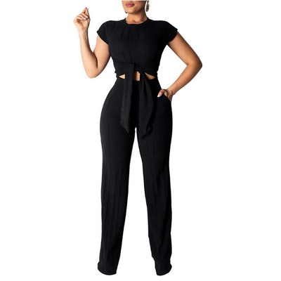 Remelon Crop Top and Pants Outfit Set