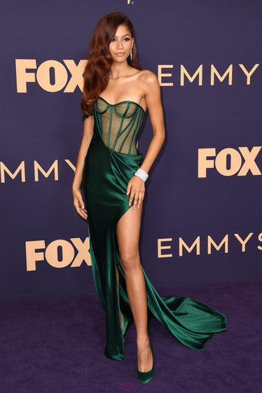 Zendaya in green knockout dress.