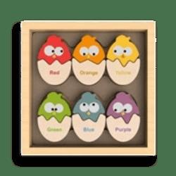 Begin Again Toys Color N' Eggs Bilingual Matching Game