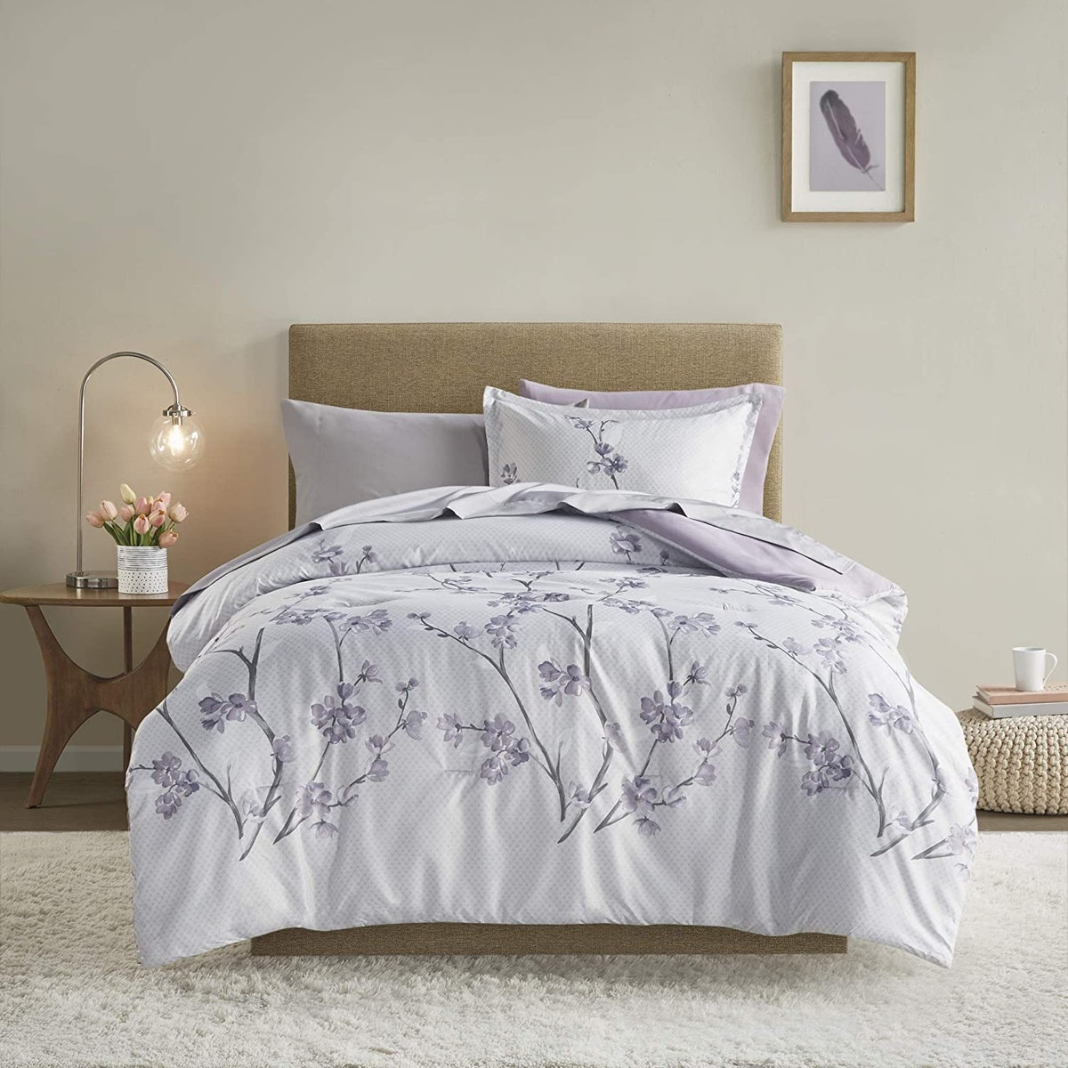 Comfort Spaces Floral Bed in A Bag (6-Piece)