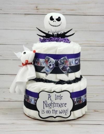 Nightmare Before Christmas diaper cake