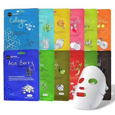 Celavi Cosmetics Face Masks (12-Pack)