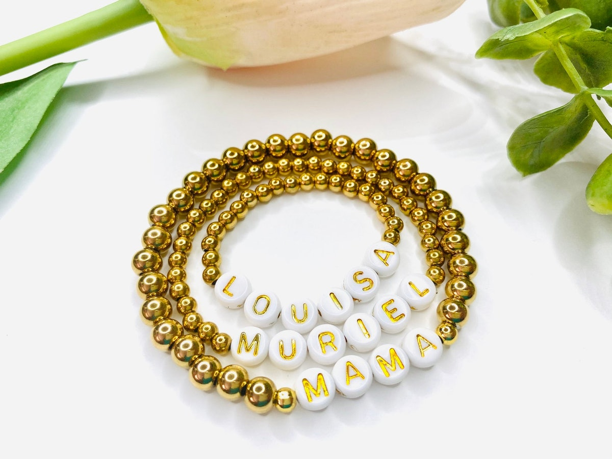 Personalized Gold Plated Bracelet