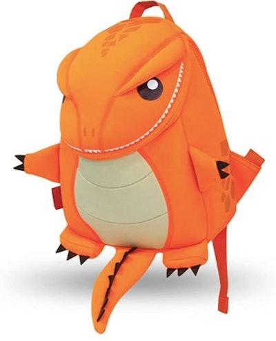 Orange Dino Backpack