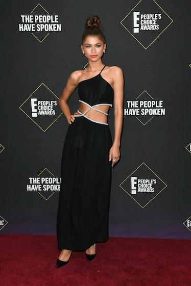Zendaya in black dress.