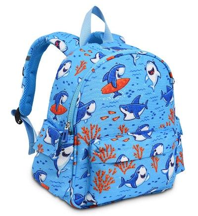 12-inch Toddler Kids Backpack Sky Blue