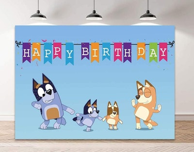 GreatGalas Bluey Theme Party Background