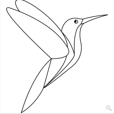 A Simple Hummingbird Coloring Page