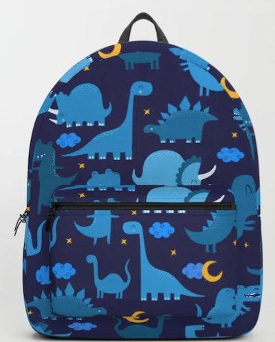 Blue Dino Backpack