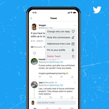 Twitter now lets users change who can reply to their tweets even after publication.