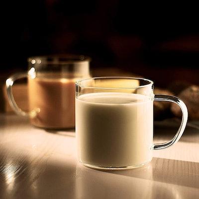 LUXU Glass Coffee Mugs (Set of 4)