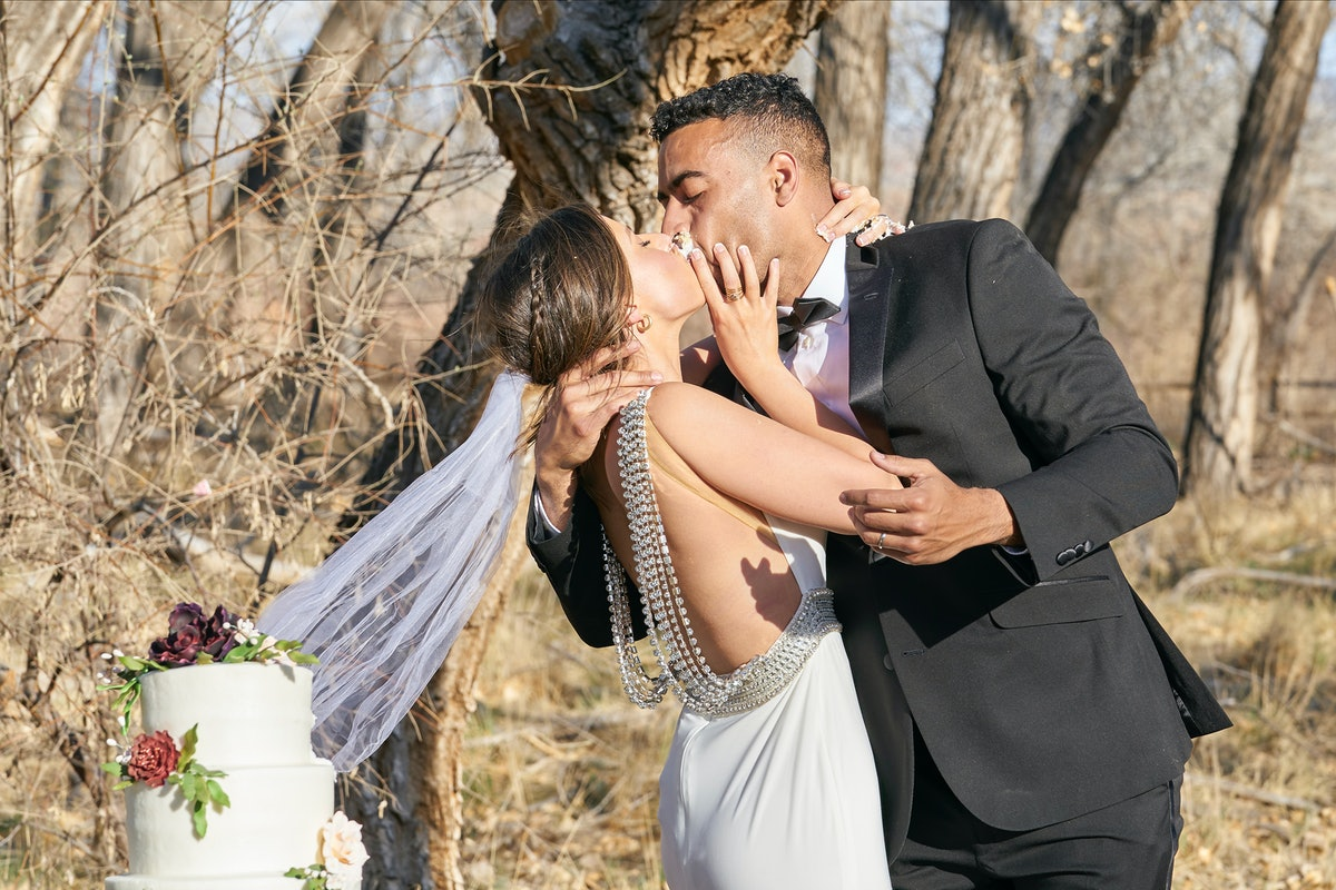 Katie and Justin pretended to get married on their one-on-one date.
