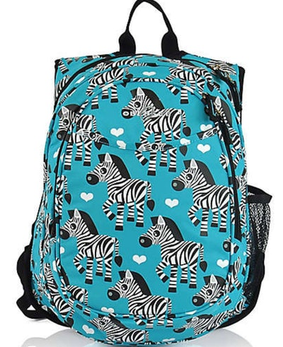 Preschool All-in-One Backpack for Kids with Insulated Cooler in Zebra