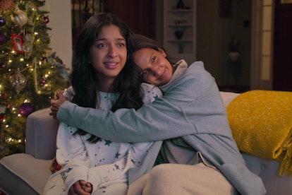 NEVER HAVE I EVER (L to R) MAITREYI RAMAKRISHNAN as DEVI VISHWAKUMAR and POORNA JAGANNATHAN as NALINI VISHWAKUMAR in Never Have I Ever Season 2, via Netflix press site.