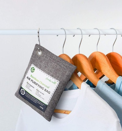 Comfy Mate Bamboo Charcoal Air Purifying Bags With Hooks (5-Pack)