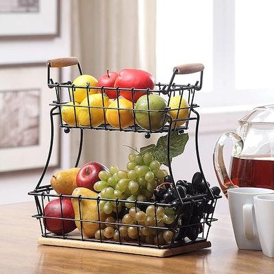 SunnyPoint 2-Tier Wire Basket