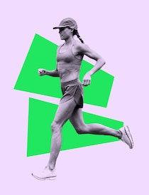 Olympian Colleen Quigley running