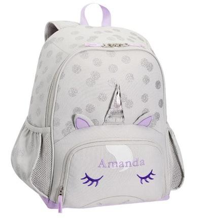 Mackenzie Critter Gray Unicorn Backpack - Small
