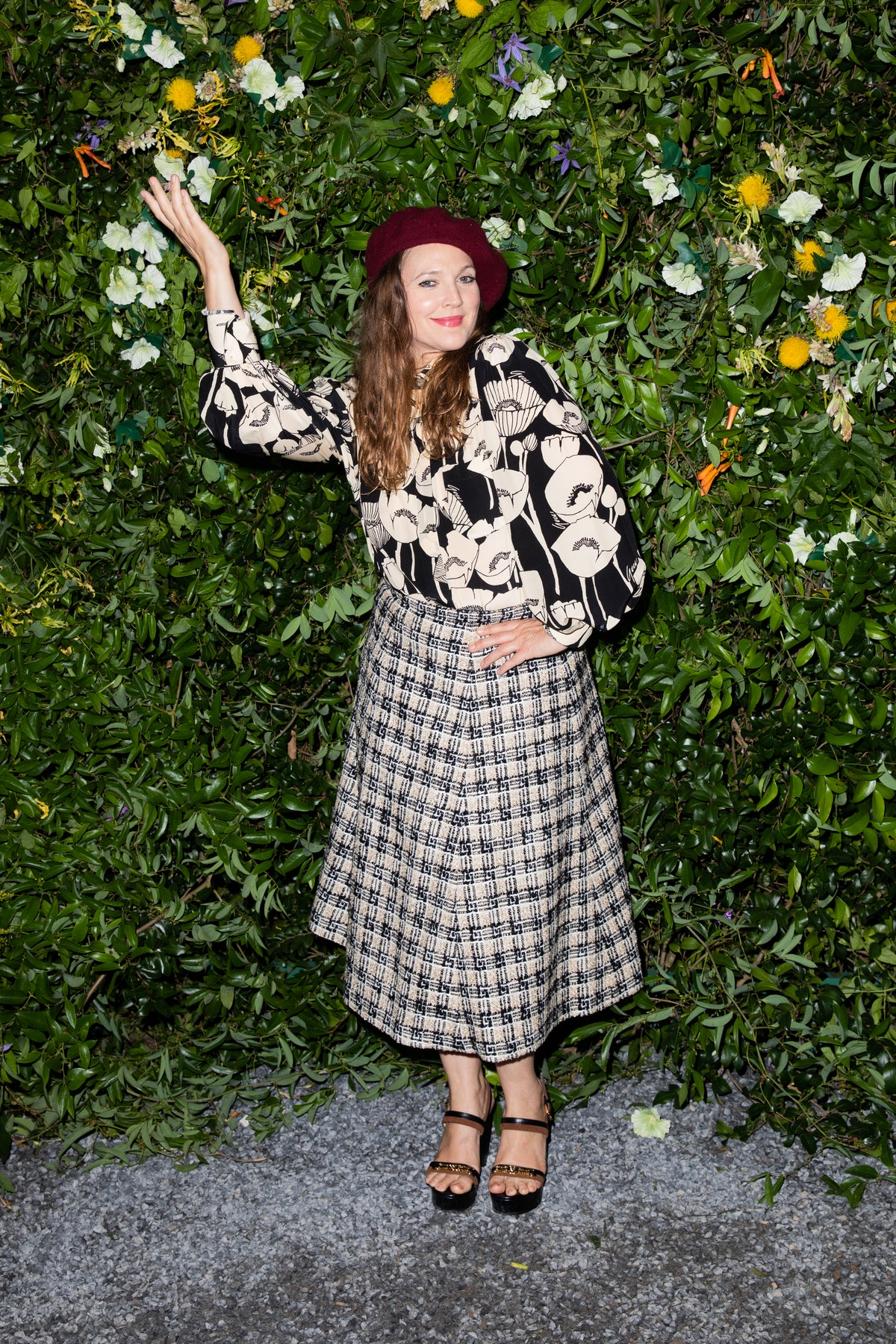 Drew Barrymore at a Gucci party