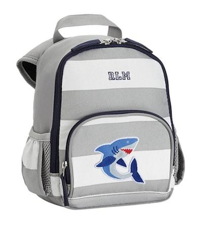 Fairfax Gray/White Stripe Backpacks - Mini Atlantic Shark