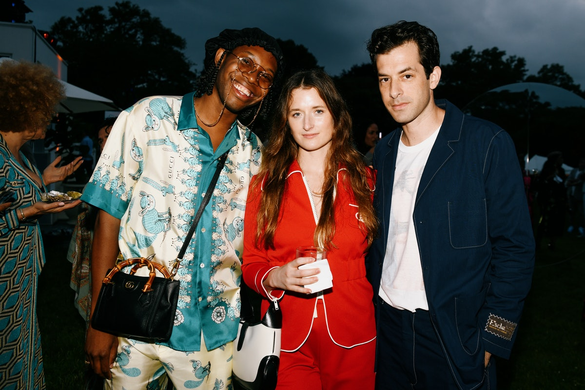 Jeremy O. Harris, Mamie Gummer, and Mark Ronson at a Gucci party