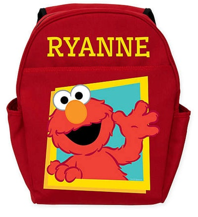 Hello Elmo Toddler Backpack in Red