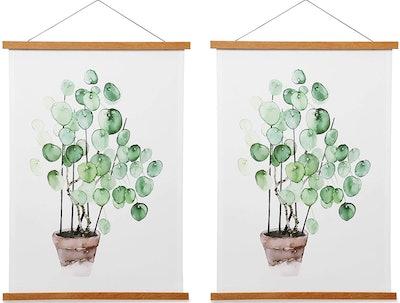 HONKKI Wooden Magnetic Picture Hangers (2-Pack)