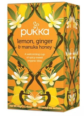 Lemon, Ginger & Manuka Honey Tea Bags - 20ct