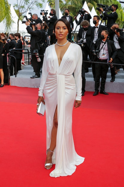 """Kat Graham attends the """"The French Dispatch"""" screening during the 74th annual Cannes Film Festival on July 12, 2021 in Cannes, France."""