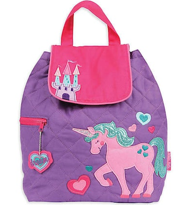 Unicorn Quilted Backpack in Pink